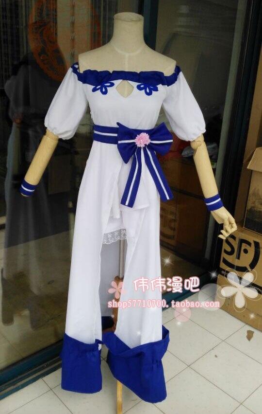 Rose et Bleu Costume Robe Fantaisie Fantasy Fox Oreilles Bandeau Noir