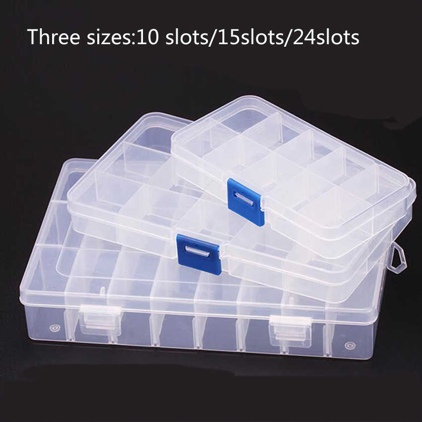 1PC New 15 Slots Cells Portable Jewelry Tool Box Container Ring Electronic Parts Screw Beads Component Storage Box