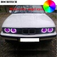 HochiTech For BMW E30 E32 E34 Car Styling RGB Multi Color LED Demon Angel Eyes Kit