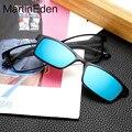 2017 ímã miopia clipe óculos polarizados óculos de sol dos homens tr90 quadro óculos de sol para macho hd lentes revo pesca condução óculos titanium