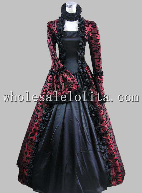 ₪Top Sale Victorian Gothic Georgian Period Dress Halloween ...