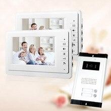 FREE SHIPPING Brand 7 Video Intercom font b Door b font Phone System 2 White Monitor