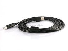 5 m Cabo de Impressora USB 2.0 de Alta Velocidade de Chumbo A para B Preto Longo Blindado