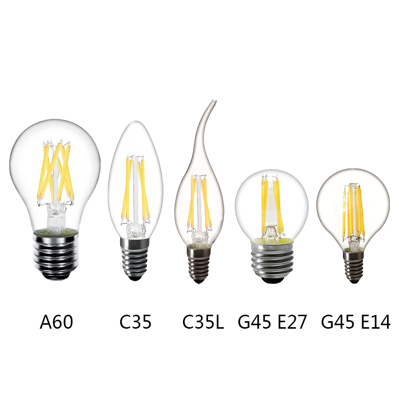 Brave E27 Led Bulb 110v 220v Led Candle Light Bulb Vintage Filament Lamp For Chandelier Lighting With 2w 4w 6w 8w Light Bulbs Led Bulbs & Tubes