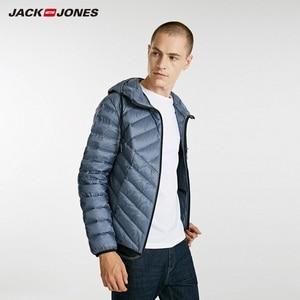 Image 4 - JackJones erkek hafif taşınabilir aşağı ceket parka ceket erkek giyim 218312510
