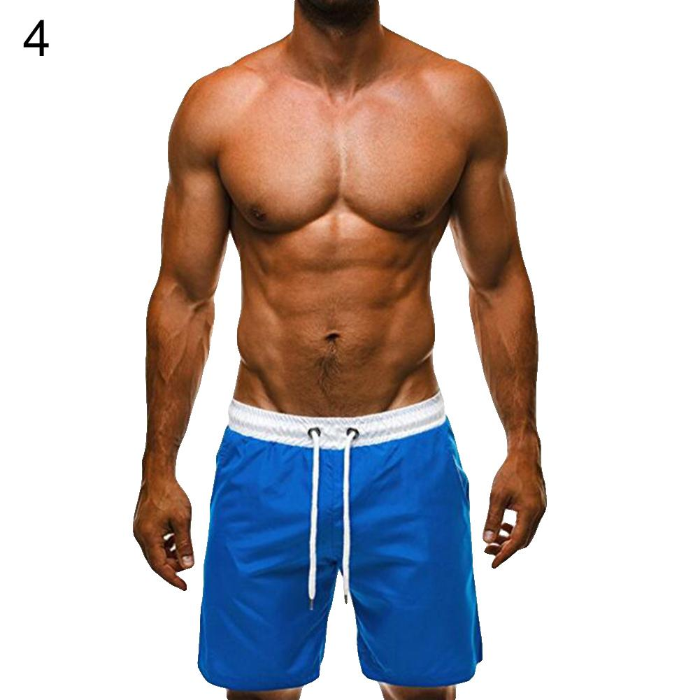 Men Drawstring Elastic Waist   Shorts   Casual Fashion Hot Beach Summer   Board     Shorts