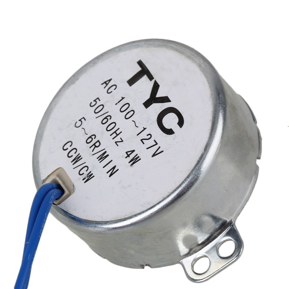 Turntable Synchronous Motor 50/60Hz AC 110-127V 4W 5-6 RPM CCW/CW TYC-50 Torque 4KGF.CM new arrival synchronous synchron motor 50 60hz ac 100 127v 4w 5 6rpm ccw cw