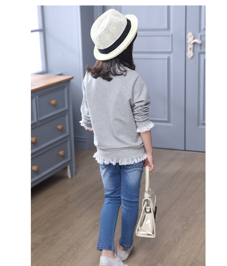 2016 new arrive sequined rebbit charatcer gray pink girls sweatshirt spring long sleeve kids clothes girls tops clothes 8 10 12 14 years girls clothing  6 7 8 9 10 11 12 13 14 15 16 children clothing (16)