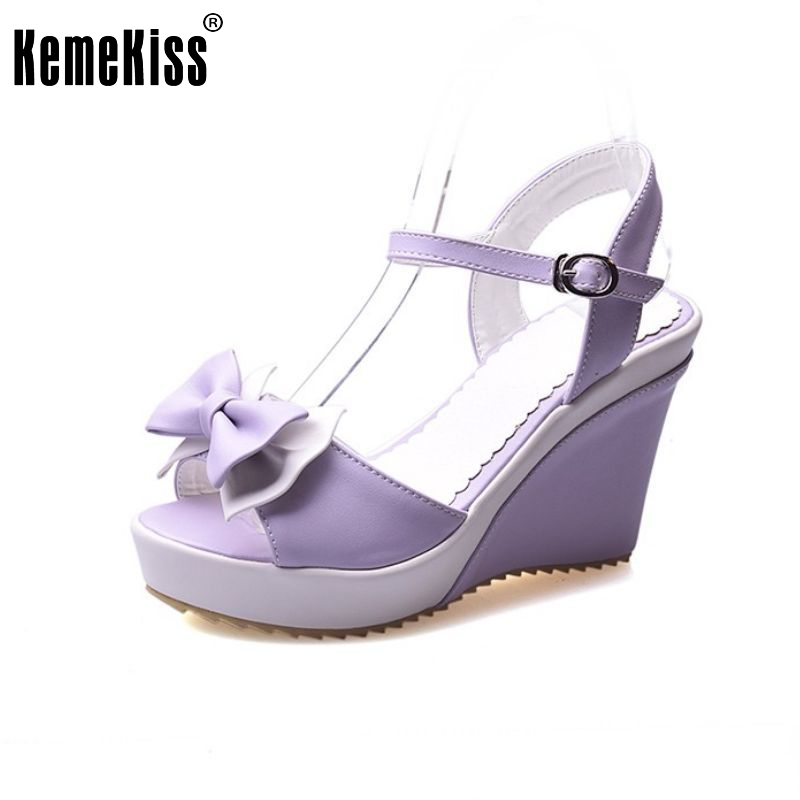 elegant fashion women peep open toe wedges sandals platforms summer shoes high heels sandals hot sale sandals size 34-40 PC00003 2016 hot sale crystal wedges transparent women high heeled sandals plus size 40 43 rhinestone peep toe jelly shoes aa016
