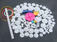 85 Kinds Of Plastic Gears Package Gear Rack Worm Pulley Transmission Belt Shaft Sleeve DIY Science
