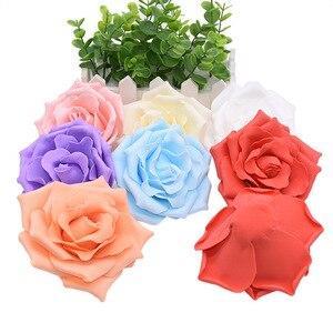 Image 3 - 10 個 10 センチメートル大泡バラ人工の花ウェディングパーティーの装飾diy花嫁のブーケスクラップブッキングクラフト偽花 8