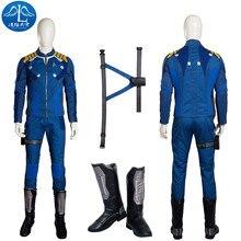 ManLuYunXiao Cosplay Costume Captain Kirk Costume Star Trek Cosplay Costume Men s Jacket Custom Made Full