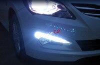 2pcs Set Car DRL Daytime Running Lights For Hyundai Solaris Verna I25 Accent Grand Avega