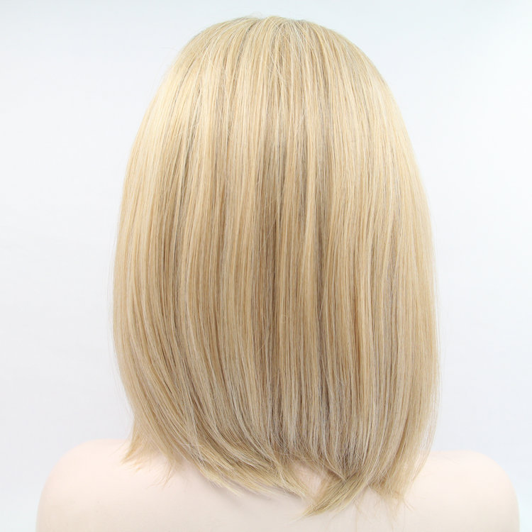 Super Aliexpress Com Buy Sexy Short Blonde Wig Dark Roots Synthetic Hairstyle Inspiration Daily Dogsangcom