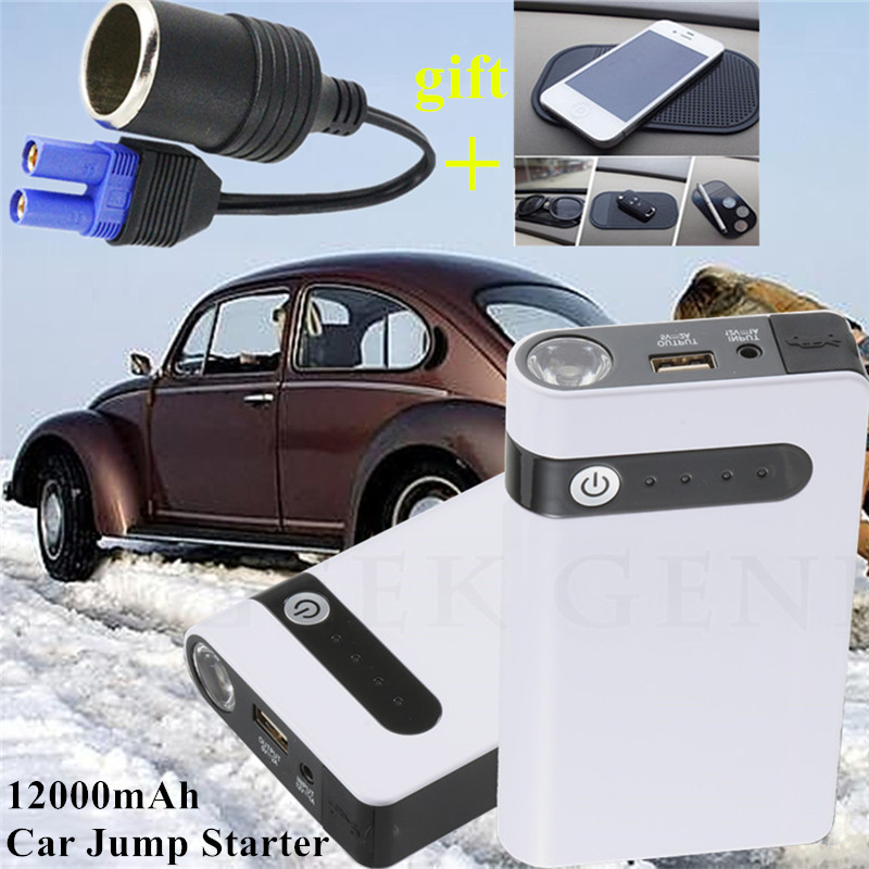 Mini Car Jump Starter 12000mAh Car Charger Booster Power Bank Emergency 400A Car font b Battery