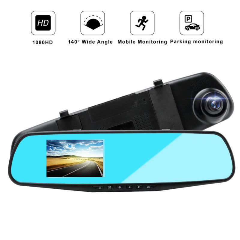 Car DVR Cam-Recorder Camera Car-Dvr Rearview-Mirror Left-Screen Digital Single-Lens Dash
