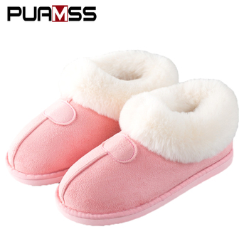2018 New Women Winter Snow Boots Keep Warm Plush Boots Women Fluff Shoes Fur Suede Flats Women Sneakers Winter Couple Boots