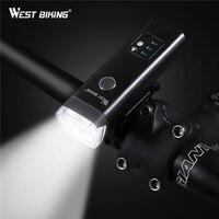 Интеллектуальный светильник  чувствительный к велосипеду  перезаряжаемый от USB  водонепроницаемый  Передний фонарь на руль  велосипедный с...