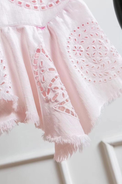 Rmsx 2019 D'été 3 Couleur En 2 Jupe De 04 Mode Coton Creux Femmes ZvxRZBr