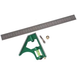 Image 4 - Neueste 300MM Professionelle Carpenter Werkzeuge Kombination Platz Winkel Lineal Edelstahl Winkelmesser Lineal
