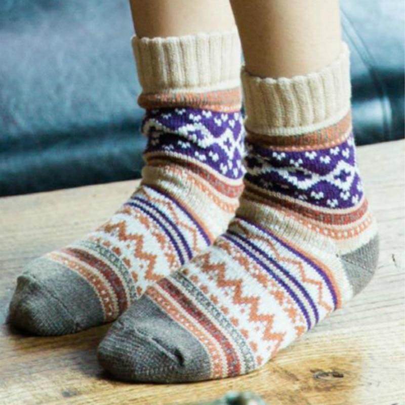 BONJEAN 2017 New Winter Thermal Cashmere Socks Womens Warm Rabbit Wool  Socks Women s Thicken soft Socks 1 pair 5 colors 8f68ba1840