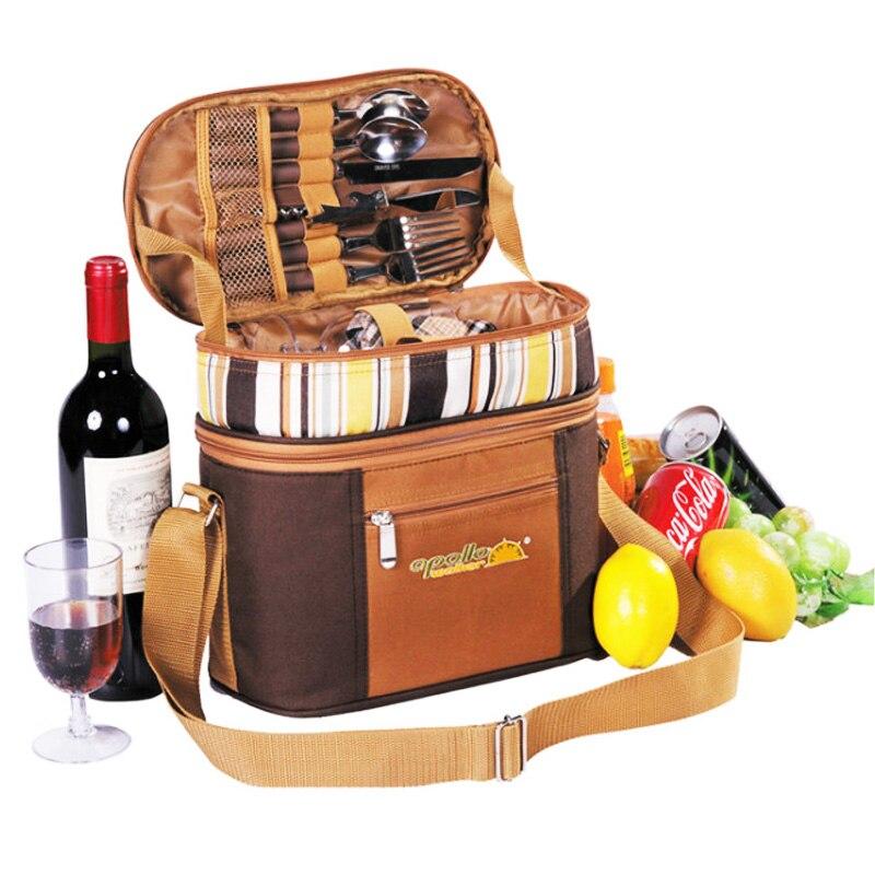Sac à couverts Portable cubiertos camping sac de pique-nique ensemble de pique-nique sac multifonction réfrigérateur voyage pique-nique sac à dos en plein air