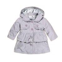 2017 New baby Girl warm autumn jackets Toddler Kids Girl Princess long hooded coat kids dress coat wholesale