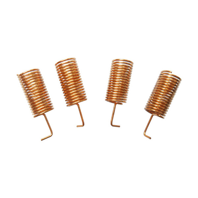 10pcs/lot SW433-TH10 - 433MHz 11 3mm helical antenna 2 15 dBi Goldern  Copper spring RF antennas