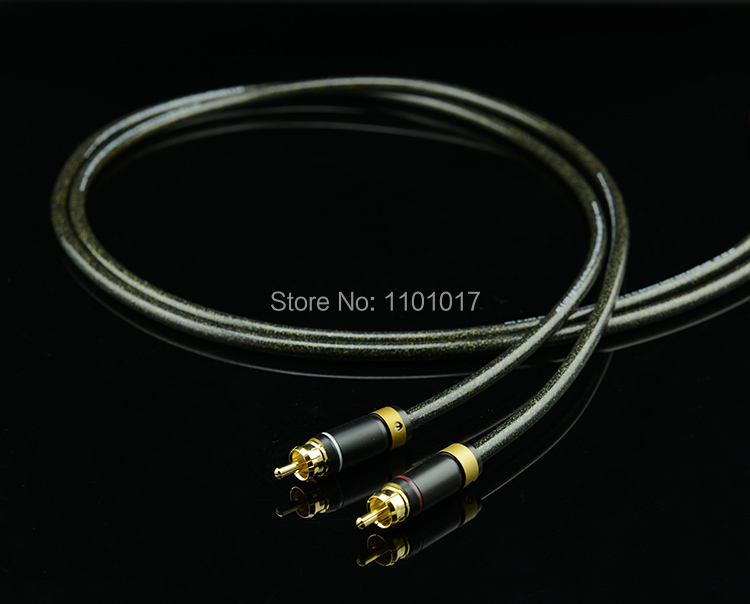 HiFi EXQUiS MPS E-100 6N OFC RCA Signal Interconnect Cable Hi-Fi Audio Analog Cable HEE100