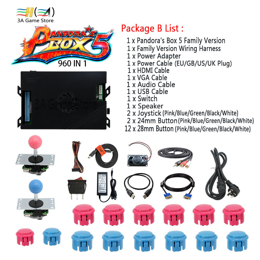 Pandora Box 5 960 In 1 Family Version Joystick Button And Wire Harness Build Diy Arcade Controller
