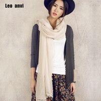 Foulard Women Lace Scarf Long Soft Wrap Shawl Stole Pashmina Big Size Cotton Bandana Pink Beige