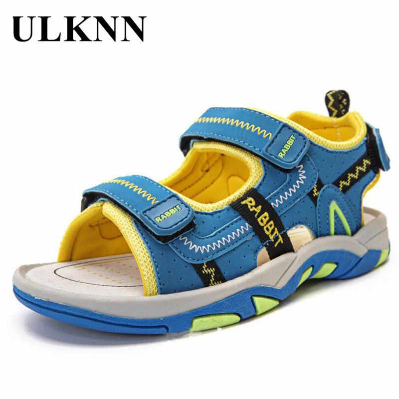 8ceee536188c4 Ulknn子供靴女の子のためのサンダル男の子ビーチサンダル子供靴オープンつま先通気