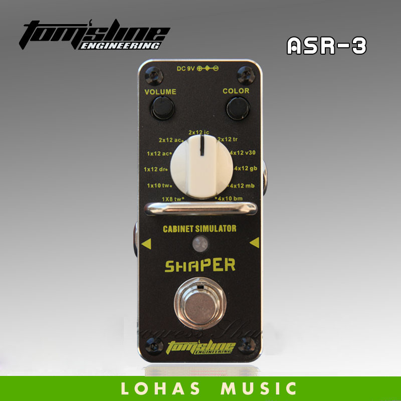 AROMA ASR-3 SHAPER Classic cabinet simulator 1x8 /1x10/1x12/2x12/4x12/4*10 kinds of speaker Guitarra Effect Pedal free shipping aroma asr 3 asr 3 shaper classic cabinet simulator mini digital guitar effect pedal aluminium alloy pedals with true bypass