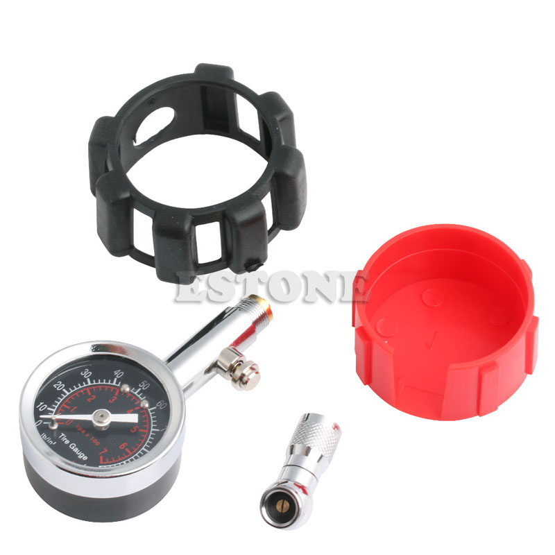 Image 5 - Motor Car Truck Bike Tyre Tire 0 100 PSI Air Pressure Gauge Dial Meter Tester
