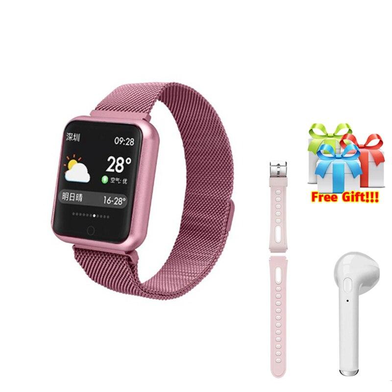 Best fitness tracker for men women smart bracelet belt earphone set smart bands fitness activity for