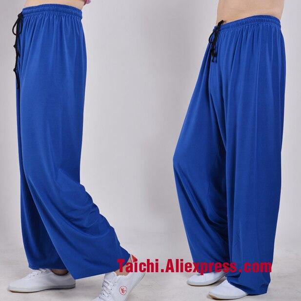 Tai Chi Pants Wushu Kung Fu martial Art Pants Yoga Pants  Kungfu Trousers Modal Fabric black pink red blue purple black white