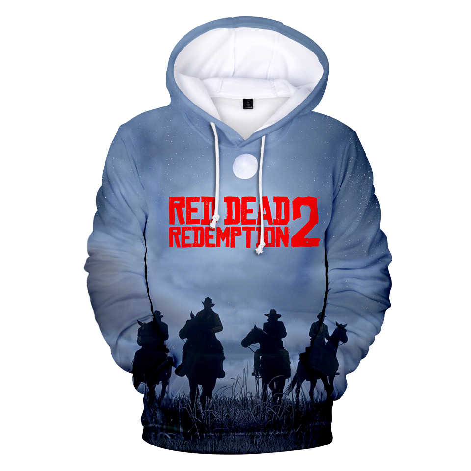 ... LUCKYFRIDAYF RED DEAD REDEMPTION 2 3D impreso sudaderas con capucha de  las mujeres los hombres ... f04e2ebedb481