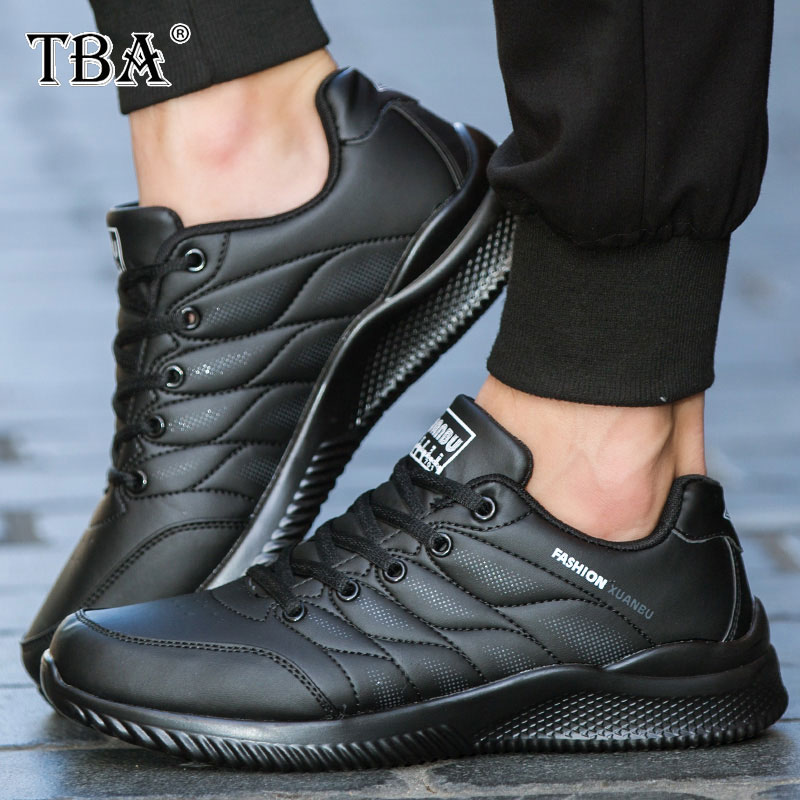 TBA sport running shoes breathable leather men