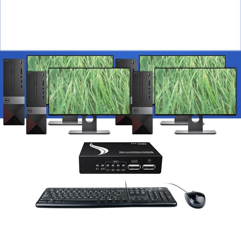 MT-VIKI 4 ports USB contrôleur synchrone clavier et souris synchroniseur pour plusieurs PCs contrôle de jeu avec câbles MT-KM104-U - 4