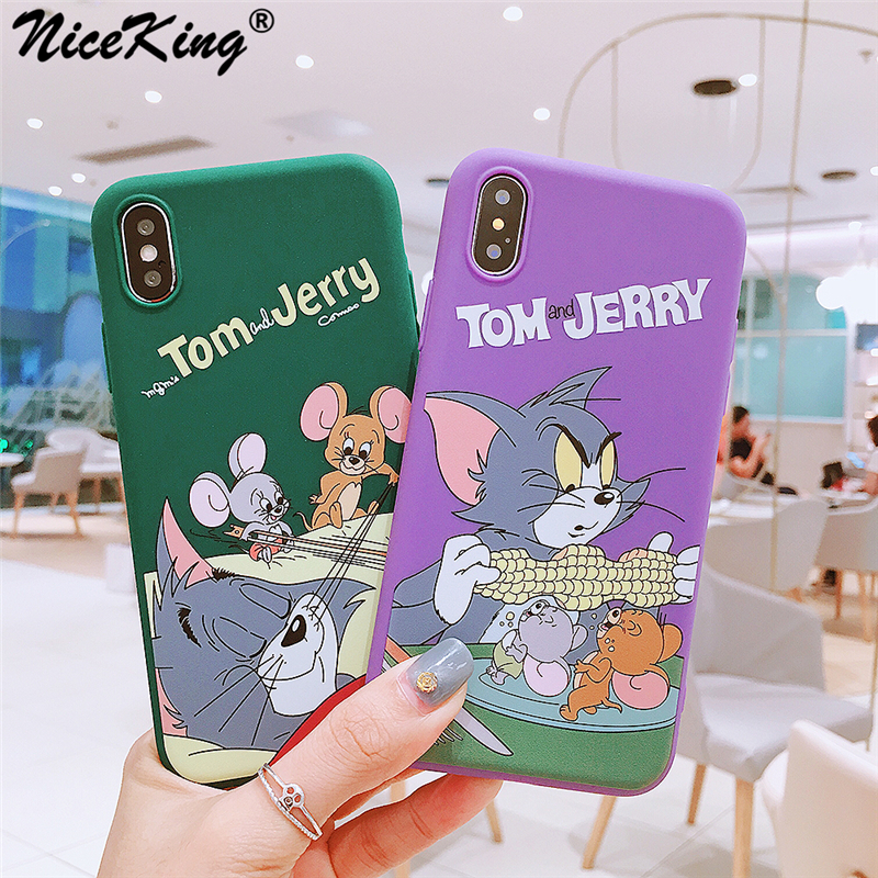 Iphone 6 6S 7 8 Plus Case Silicone Cute Tom And Jerry Crayon