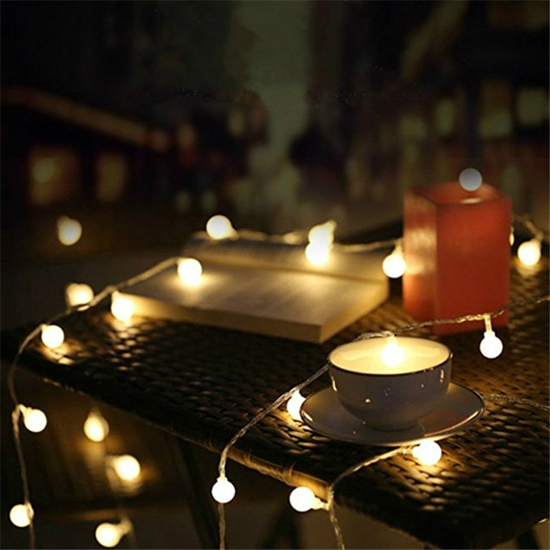 LED String Lights Warm White 1M 2M 4M 5M 10M Ball AA Battery Power Novelty Fairy Lighting Festival Christmas Wedding Decoration