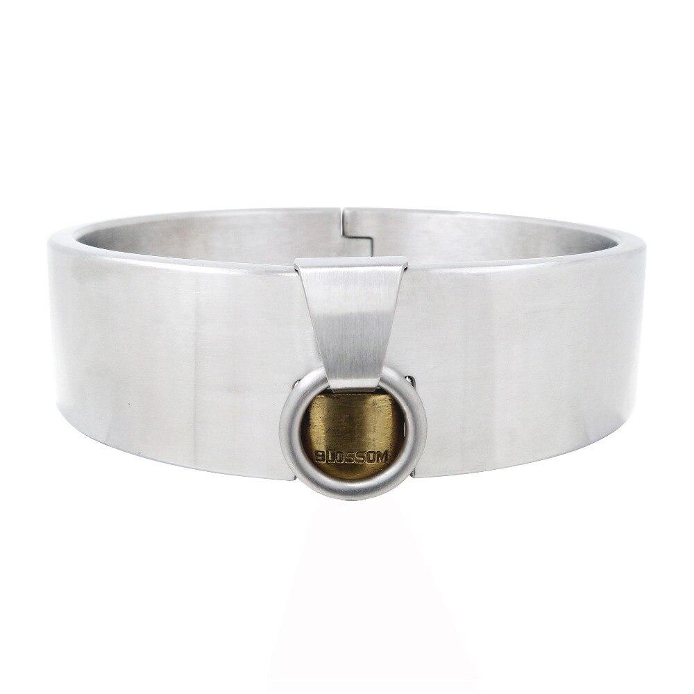40mm height stainless steel padlock slave sex collar fetish wear bondage restraints set adult game sex