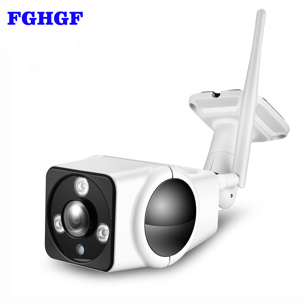 цена FGHGF IP Camera 1080p HD Wireless Security Camera 2MP VR Panoramic Fisheye WiFi Wireless IP Security Waterproof Bullet Camera