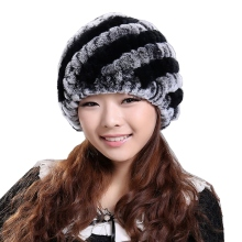 Handmade Newest Women s Fashion Real Knitted Rex Rabbit Fur Hats Lady Winter Warm Charm Beanies