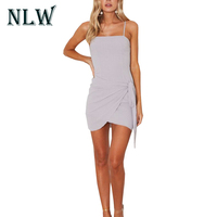 Lily Rosie Girl Condole Belt Backless Tight High Waist Lady Summer Beach Sex Mini Dress