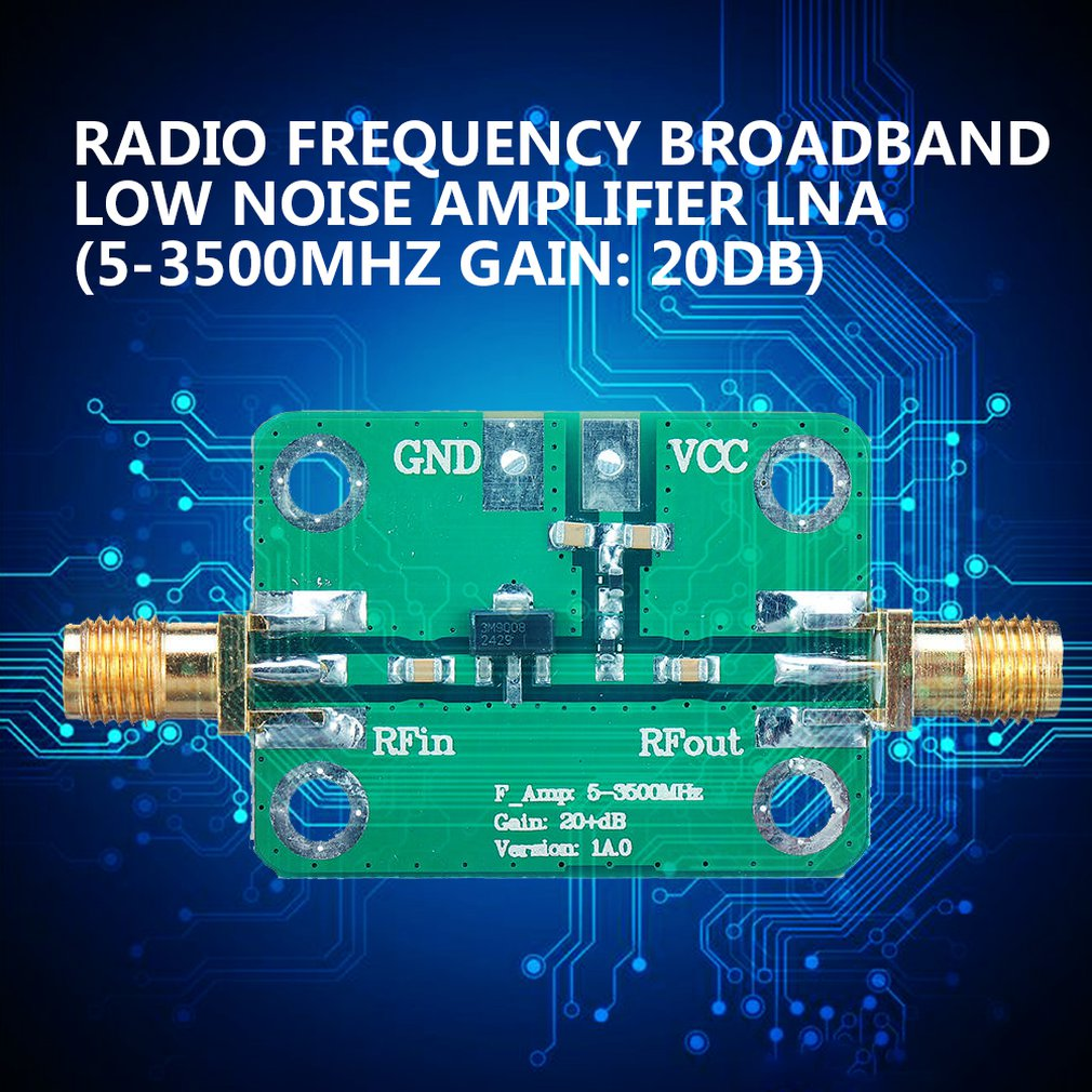 New Rf Wideband Low-Noise Amplifier Amplifier Lna 5-3500Mhz Gain: 20Db