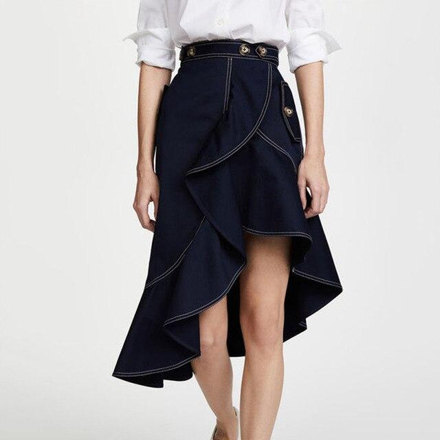 Self Portrait Юбки для женщин 2018 Для женщин Джинсы для женщин юбка