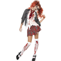 Zombie School Girl Uniform Vampire Costumes Cosplay Halloween Costume For Adult Carnival Costumes For Women
