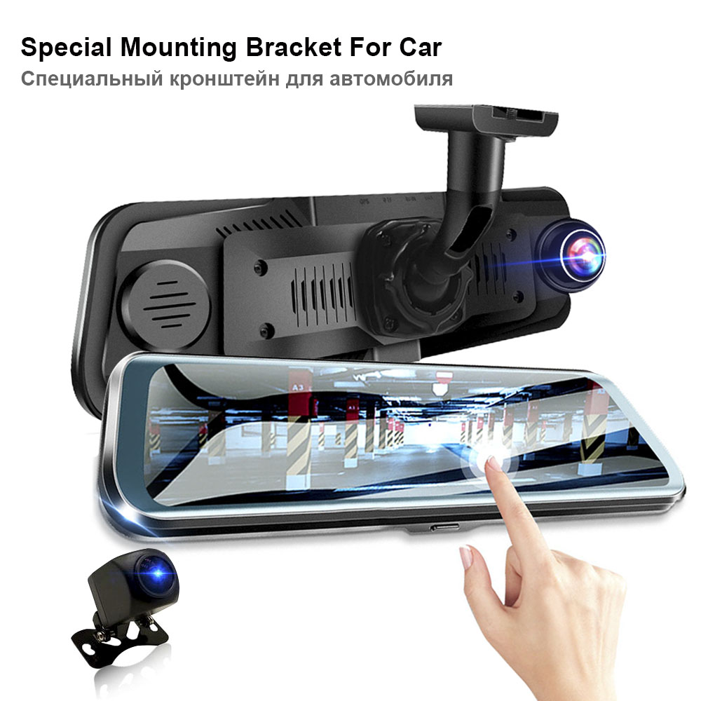 HGDO Car-Dvr Registrar-Recorder Dash-Cam 10inch Camera Video Touch-Screen Dual-Lens Night-Vision