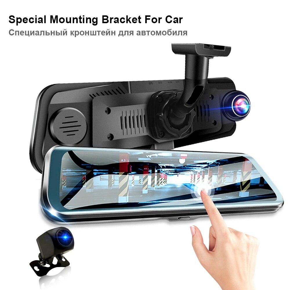HGDO 10 pouces Dash cam écran tactile voiture dvr double lentille Full HD 1080 P caméra de vision nocturne enregistreur vidéo d'enregistrement autoregistrars